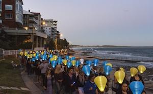 Light the Night Leukaemia Foundation Cronulla fund raising
