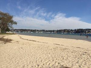 sandy kid friendly beach at Gunnammatta Bay