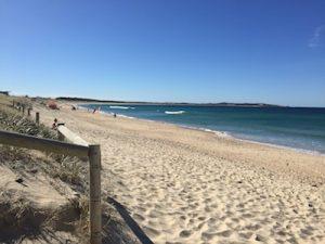 the world class beach at Wanda